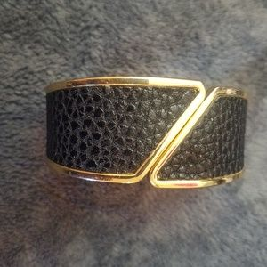 Faux leather and gold Express cuff